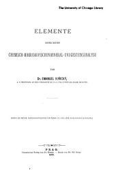 Elemente einer neuen chemisch-mikroskopischen Mineral- und Gesteinsanalyse ...