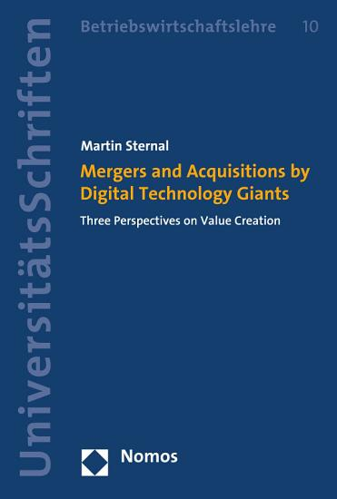 Mergers and Acquisitions by Digital Technology Giants PDF