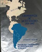 Cronologia de Actividades 1978   1982 PDF
