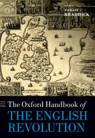 The Oxford Handbook of the English Revolution PDF