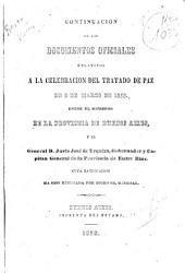 Continuación de los Documentos oficiales relativos a la celebración del tratado de paz de 9 de marzo 1853