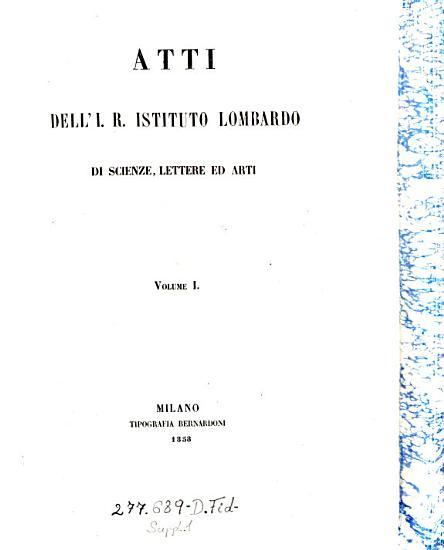 Giornale dell J  R  Istituto lombardo di scienze  lettere ed arti e Biblioteca Italiana PDF