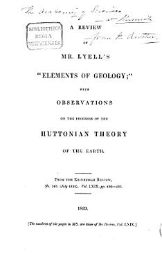 A Review of Lyell s  Elements of Geology  PDF