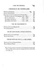 Collection des mémoires relatifs à l'histoire de France depuis la fondation de la monarchie française jusqu'au 13e siècle: Avec une introduction, des supplémens, des notices et des notes, Volume2