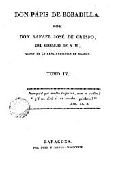 Don Pápis de Bobadilla: Volumen 1