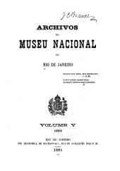 Archivos do Museu Nacional do Rio de Janeiro: Volume 5