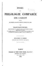 Études de philologie comparée sur l'argot et sur les idiomes analogues parlés en Europe et en Asie