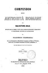 Compendio delle antichita romane di Salvatore Aula: Volume 1