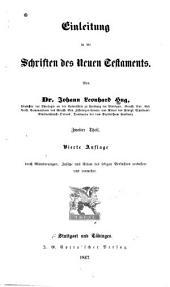 Einleitung in die Schriften des Neuen Testaments..