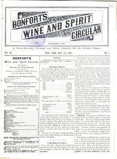 Bonfort's Wine and Spirit Circular: Volume 20