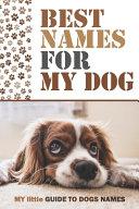 Best Names Fo My Dog PDF