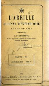 L'Abeille: journal d'entomologie, Volume 22