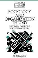 Sociology and Organization Theory PDF