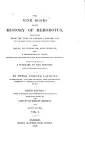 The Nine Books of the History of Herodotus: Volume 1