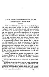 Meister Eckeharts lateinische Schriften und die Grundanschauung seines Lehre