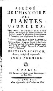 Abrege De L'Histoire Des Plantes Usuelles ...