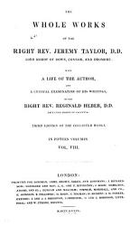 The Whole Works Of The Right Rev Jeremy Taylor Book PDF