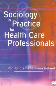 Sociology in Practice for Health Care Professionals PDF