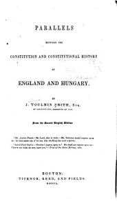 Parallels between constitution and constitutional history of England and Hungary