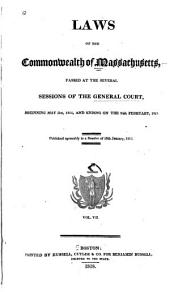 Laws of the Commonwealth of Massachusetts: Volume 7