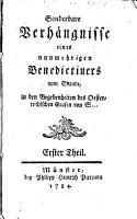Sonderbare Verh  ngnisse eines nunmehrigen Benedictiners     PDF