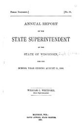 Annual Report of the Superintendent of Public Instruction of the State of Wisconsin: Issue 32