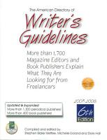 American Directory of Writer s Guidelines PDF