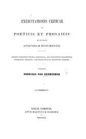 Exercitationes criticae in poeticis et prosaicis quibusdam Atticorum monumentis. Accedit descriptio codicis Ambrosiani, quo continetur fragmentum Onomastici Pollucis, etc