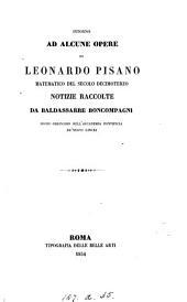 Intorno ad alcune opere di Leonardo Pisano, matematico del secolo decimoterzo