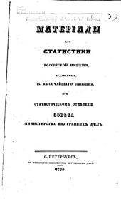 Матеріалы для статистики Россійской Имперіи
