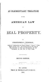 An Elementary Treatise on the American Law of Real Property