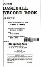 Baseball Record Book  1983 PDF