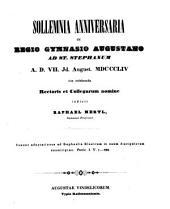 Jahresbericht über die Königliche Katholische Studien-Anstalt bei St. Stephan in Augsburg: im Studienjahre ... 1853/54