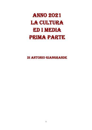ANNO 2021 LA CULTURA ED I MEDIA PRIMA PARTE PDF