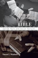 African Americans and the Bible PDF