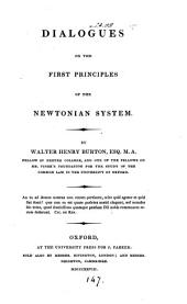 Dialogues on the First Principles of the Newtonian System: Volume 4