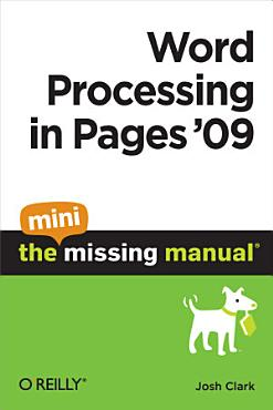 Word Processing in Pages  09  The Mini Missing Manual PDF