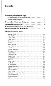 Wildernesses and primitive areas in southwestern national forests