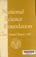 Annual Report of the National Science Foundation PDF