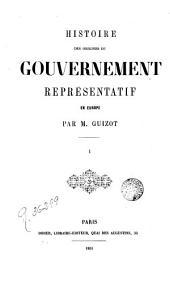 Histoire des origines du government représentatif en Europe, 1