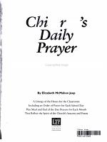 Children's Daily Prayer 2005 - 2006