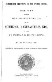 Consular Reports: Commerce, Manufactures, Etc, Volume 8