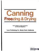 Canning  Freezing   Drying