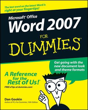 Word 2007 For Dummies PDF