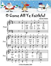 O Come All Ye Faithful - Easiest Piano Sheet Music Junior Edition