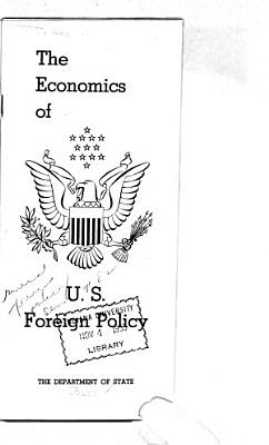 The Economics of U S  Foreign Policy PDF