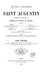 Œuvres complètes de Saint Augustin: Volume3