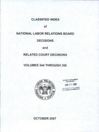 Classified Index of National Labor Relations Board Decisions and Related Court Decisions PDF