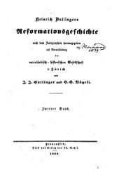 Heinrich Bullingers Reformationsgeschichte: Band 2