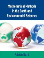 Mathematical Methods in the Earth and Environmental Sciences PDF